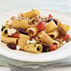 Pasta with Caramelized Onions, Tomatoes, Parsley, and OlivesRecipe
