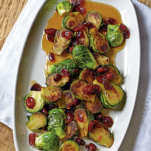Asian Roasted Brussels Sprouts with CranberriesRecipe