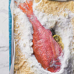 Salt-Roasted Whole Red Snapper Recipe