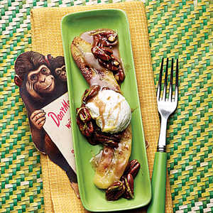 Browned Butter Bananas with Toasted PecansRecipe