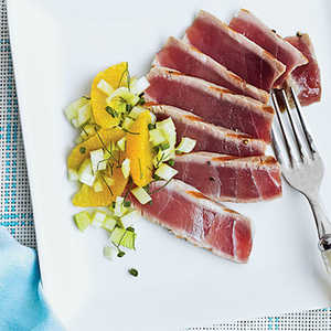 Grilled Tuna with Fennel-Orange Relish Recipe