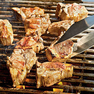 Grilled Lamb Chops with Romesco SauceRecipe