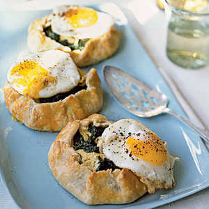 Swiss Chard-Ricotta Galettes with Fried Eggs Recipe