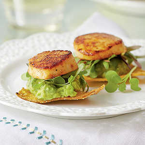 Scallop-and-Avocado TostadasRecipe