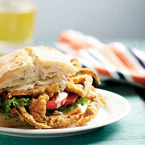Soft-Shell Crab Sandwiches with Spicy RèmouladeRecipe
