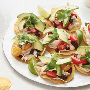 Chicken-and-Black Bean Tostadas Recipe