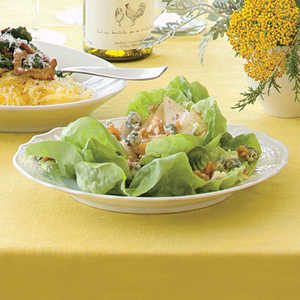 Bibb Salad with Peppered Pears and Candied WalnutsRecipe