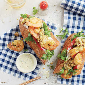 Oyster-and-Shrimp Po' BoysRecipe