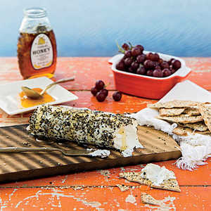 Honey-Pepper Grilled Goat Cheese Recipe