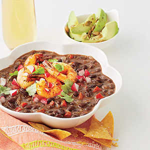 Black Bean Soup with Tequila Shrimp Recipe