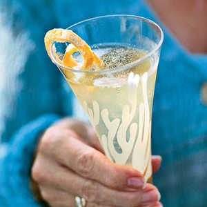 Champagne-Limoncello Aperitifs with Candied Lemon PeelRecipe