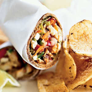 Spiced Fish Wraps with Chile-Lime SlawRecipe