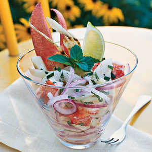 Lobster Seviche with Grilled FennelRecipe