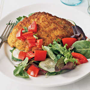 Sautéed Chicken Cutlets with Mixed Baby GreensRecipe