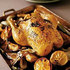 Roasted Chicken with Fennel and LemonRecipe
