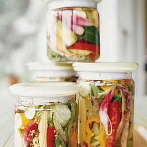 Spicy Pickled Summer Vegetables Recipe