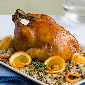 Roast Chicken With Citrus Wild RiceRecipe