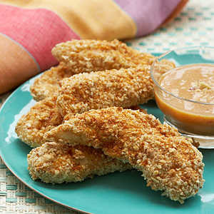 Peanut Oven-Fried Chicken With Citrus-Ginger SauceRecipe