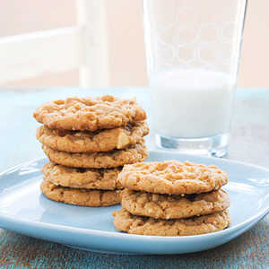 Nutty Peanut Butter CookiesRecipe