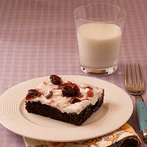 Black Cherry Brownies With Cherry Frosting Recipe