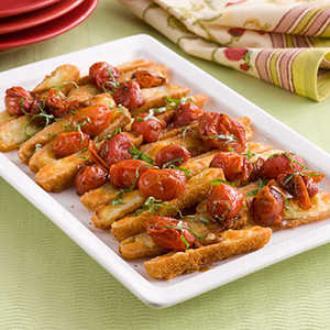 Oven-Roasted Cheese Sticks Caprese Recipe