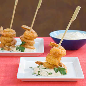 Fried Shrimp Skewers With Creole SauceRecipe