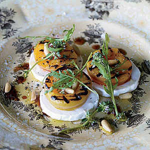 Grilled Apricot, Arugula and Goat Cheese SaladRecipe