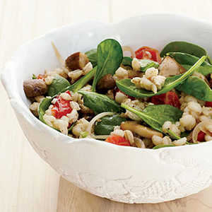 Barley-and-Spinach Salad with Tofu DressingRecipe