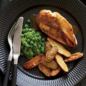 Chicken Breasts with Potatoes and Mashed PeasRecipe