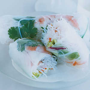 Shrimp-and-Vegetable Summer RollsRecipe