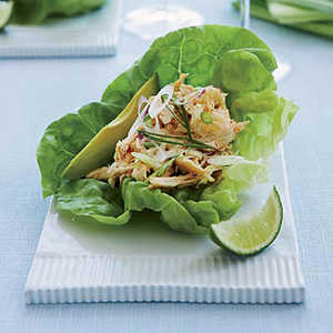 Spicy Asian-Chicken-Salad Lettuce Cups Recipe