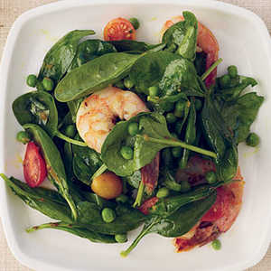 Spinach-and-Shrimp Salad with Chile DressingRecipe