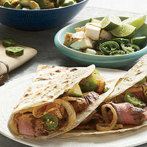 Grilled Steak Tacos with Avocado SalsaRecipe