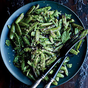 Blistered Snap Peas with MintRecipe