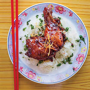 Caramelized Ginger Chicken with Sticky RiceRecipe