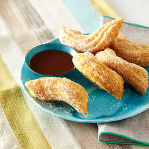 Citrus-and-Spice Churros with Mocha SauceRecipe