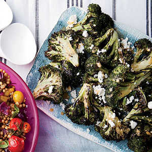 Grilled Broccoli with Chipotle-Lime Butter and Queso FrescoRecipe