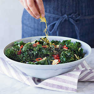 Grilled Kale with Garlic, Chiles and BaconRecipe