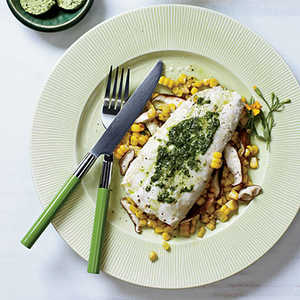 Halibut and Corn Hobo Packs with Herbed ButterRecipe