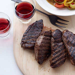 Lamb Steaks with Peppers and Cumin Recipe