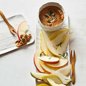 Smoked-Almond Butter with Crispy Rosemary Recipe