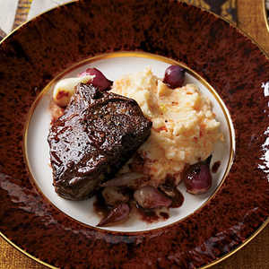 Spice-Glazed Lamb Chops with Red Wine-Coffee Pan SauceRecipe