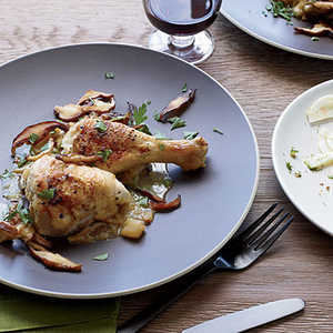 Braised Chicken with Apples and CalvadosRecipe