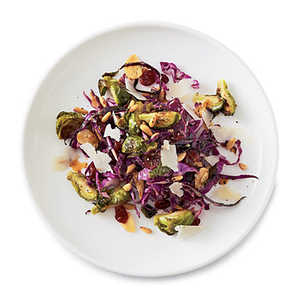 Roasted Brussels Sprouts with Cabbage and Pine NutsRecipe