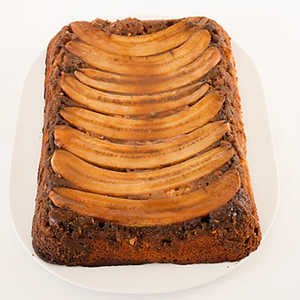Chocolate-Peanut-Butter-Banana Upside-Down Cake Recipe