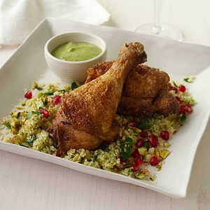 Crisp Spiced Chicken with Hummus VinaigretteRecipe