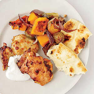 Curried-Chicken and Vegetable Pan RoastRecipe