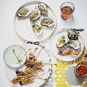 Grilled Oysters with Tabasco-Leek ButterRecipe