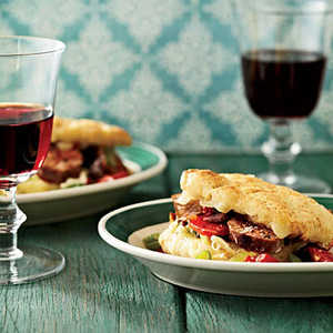 Italian Sausage-and-Fontina Biscuit SandwichesRecipe