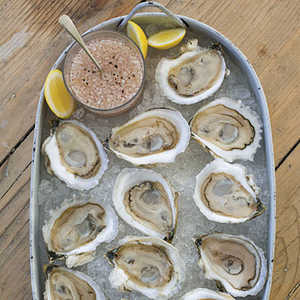 Oysters on the Half Shell with Rosé Mignonette Recipe